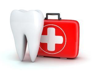 Illustration of tooth and first aid kit | dentist in aurora il