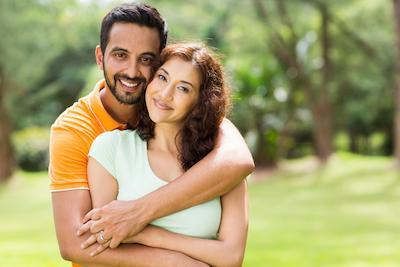 Couple Hugging | Dental Implants Aurora IL